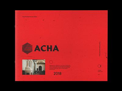 ACHA | Cover Art editorial design indentity branding cover art