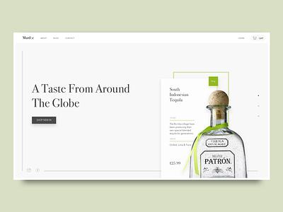 E-commerce Concept branding website web design ui alcohol e-commerce ecommerce