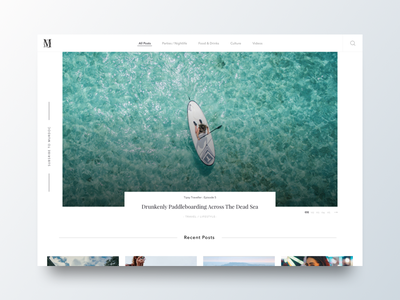Blog UI feed website web web design ui interface blog