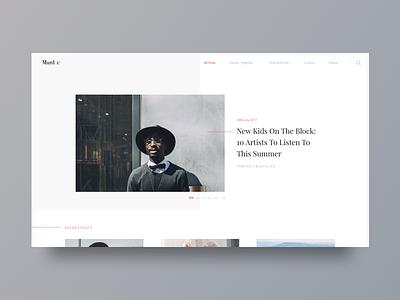 Blog UI web user interface clean ux design web design ui blog