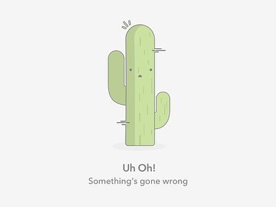 Uh Oh! empty state empty graphic error state state graphic cactus empty error