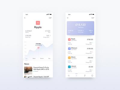 Cryptocurrency App app design finance ui app cryptocurrency