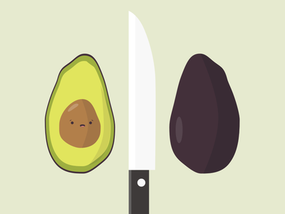 Avocados Have Feelings Too ui design graphic design graphic illustration