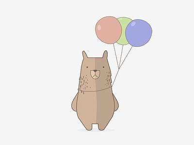 The Birthday Bear bear graphic design graphic illustration