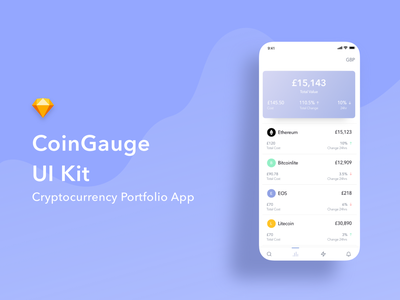 Cryptocurrency UI Kit ui kit app design clean mobile app ux ui