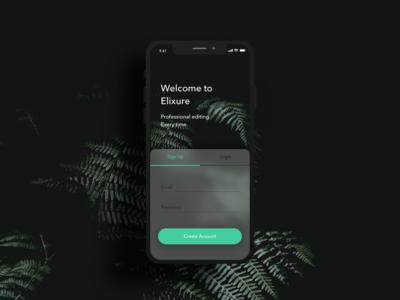 Login / Sign Up UI