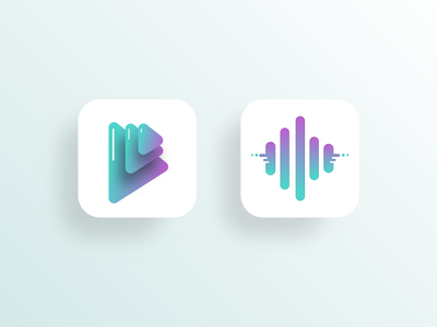 Music App Icons icon app icon logo vector ios graphic app design design app ui