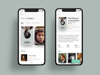 Film / Cinema Exploration dailyui graphic clean mobile interface ios app design ux web design app ui