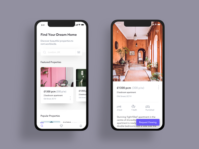 Real Estate Concept property dailyui web design clean interface mobile ios app design ux design app ui