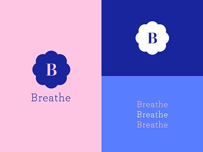 Breathe Branding website web vector blue ui typography flat cloud design clean branding