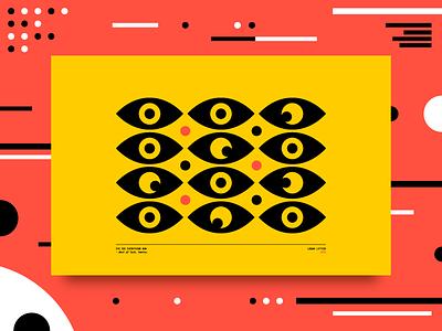 Eye See Everything 👀 vector eye minimal logo illustration icon abstract flat design clean pattern branding