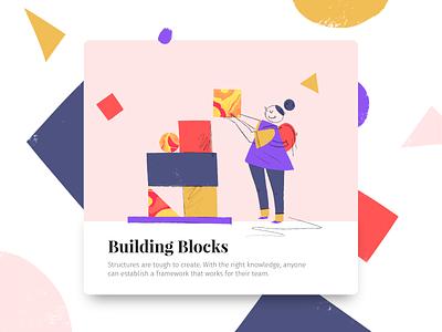 Building Blocks web minimal mark illustration icon graphic flat drawing design app character branding