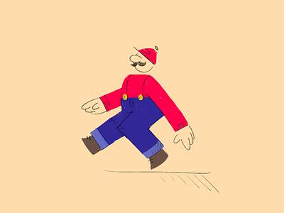 Issa Me, Mario web minimal mark illustration icon graphic flat mario design character branding app
