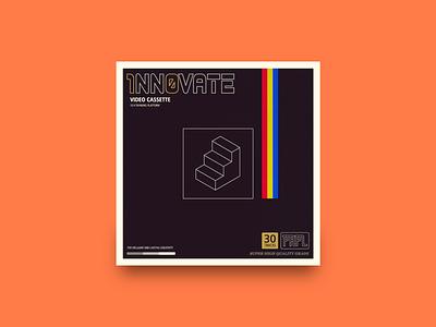 1nn0vate Playlist vector texture pattern minimal logo illustration icon 80s design clean album branding