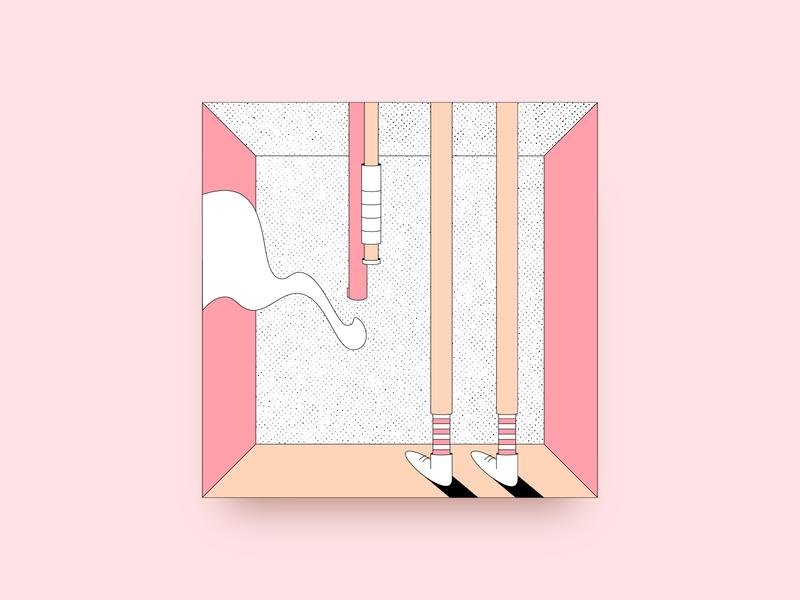 Smoking Barrels 💨 ui web gun isometric character minimal icon clean vector branding design illustration