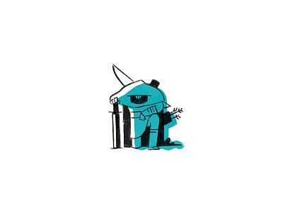 Inktober Day 7 inktober knight procreate minimal logo illustration icon flat drawing clean character branding