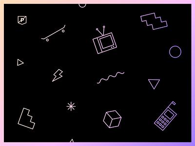 Nostalgia illustration nostalgia pattern vector logo icon flat branding minimal gradient clean design