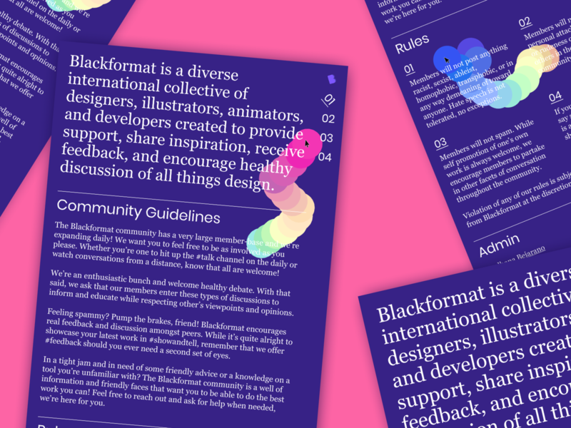 Blackformat Site Redesign javascript developer blackformat purple ux type typogaphy minimal brutalism web website ui
