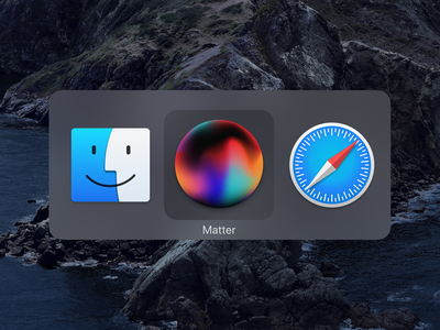 App icon for Matter abstract switcher ux ui macos orb app icon