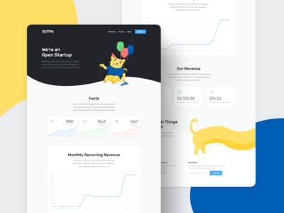 Open Startup™ Page graph scrum interface illustration agile ux ui cat chart landing page