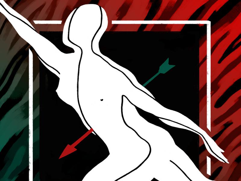 Dance death dance figure photoshop painting art digital tablet ilustracion wacom illustration