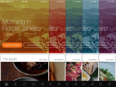 App Colour Design app design apps visual design ux ui interface app colour