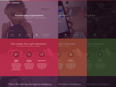 Agency Product Microsites identity branding visual design web color m colour ux ui
