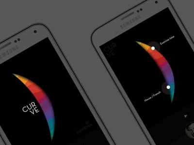 Curve Music Player visual color colour ux ui app