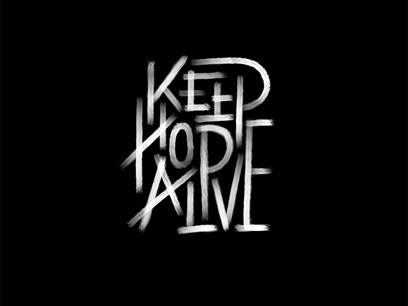 Keep Hope Alive love ipadlettering type design graphic design calligraphy handlettering typography logo handmadefont lettering customtype