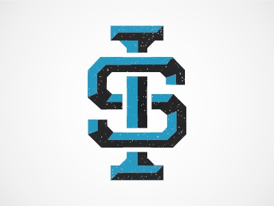 IS Monogram monogram logotype logo resume vector college baseball slab serif vintage blue black ilya