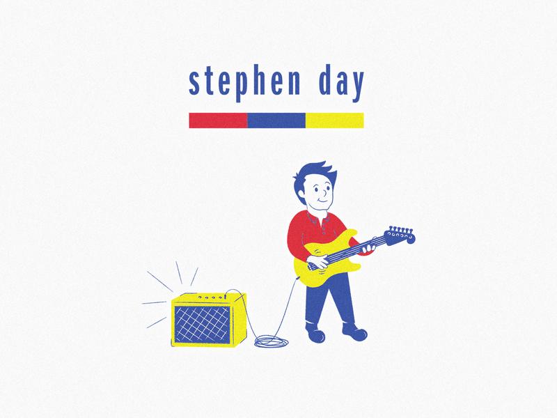 Stephen Day T-Shirt Design modern mid-century t-shirt illustration t-shirt musician merch music