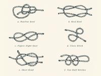 Hand-Drawn Sailors Knots Print