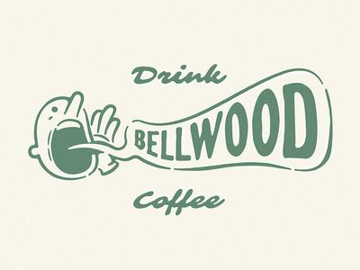 Drink Bellwood Coffee coffee coffee shop bellwood coffee sticker ad character 60s 50s character atlanta