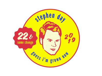Stephen Day Merch Design merchandise tour color vintage retro illustration musician merch