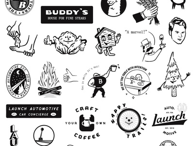 One Year of Freelance! one year design illustration logos rejected anniversary freelance