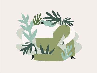Jungle Woman jungle nature plants figure illustration illustration