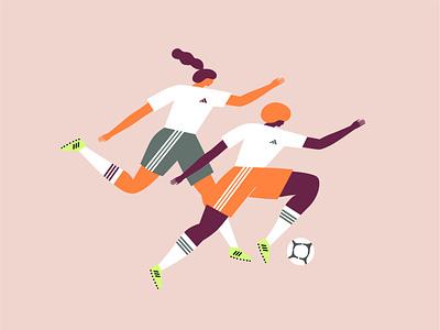 adidas diversity body positivity adidas running skateboarding soccer movement women in illustration empowerment athletic sports figure illustration illustration