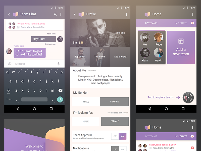 Dateam / Android android app gui material design lollipop