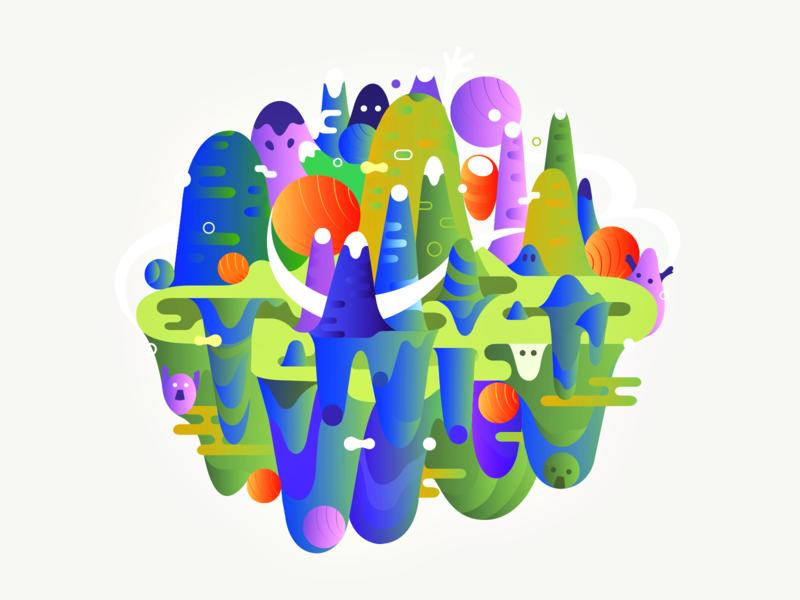 Laffa ◍ patrykbelc blcstudio belcdesign print nature art vectors abstract illustrator illustration laffa