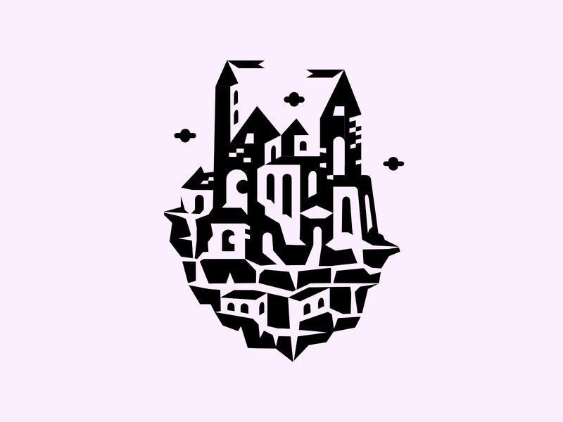 Legoland ▲◑ patrykbelc blc belcdesign illustrator illustration vector blocks squares geometric art castle