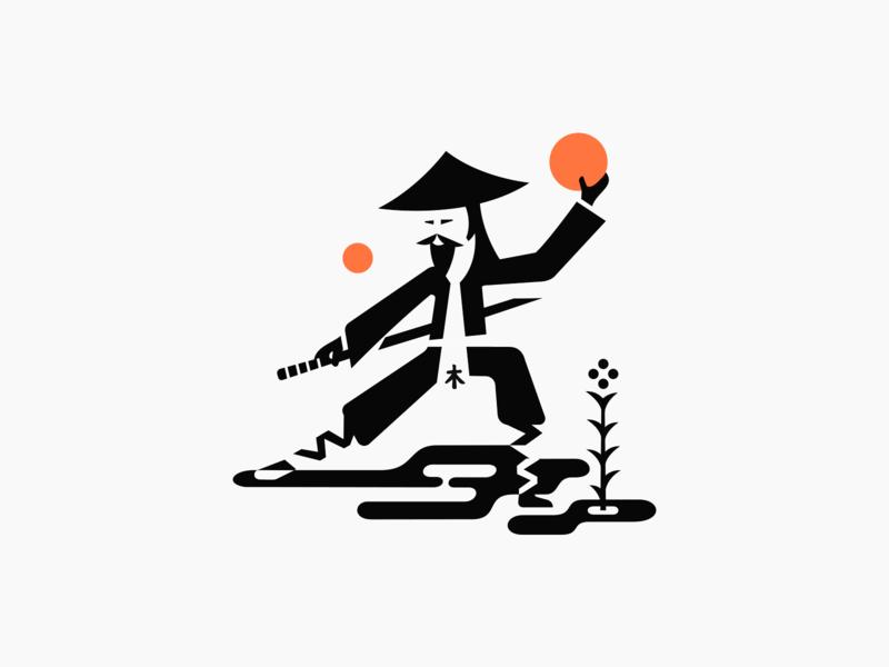 Monk ◍ patrykbelc blcstudio belcdesign branding asia shaolin negativespace logodesign logo monk