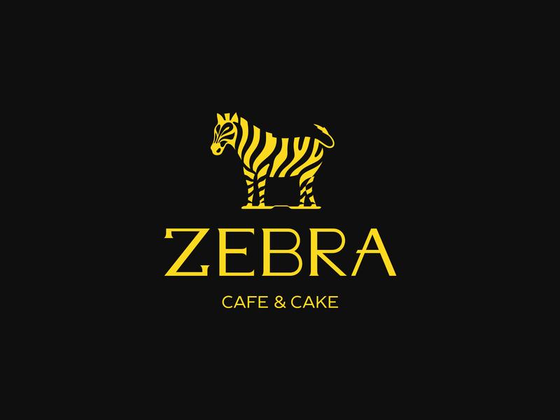 Zebra | Cafe & Cake ☕️ patrykbelc blcstudio belcdesign cafe branding negative space cafe logo coffee shop animal logo logodesign zebra