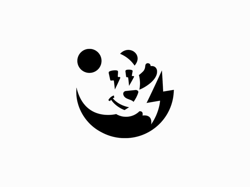 United Pandaz ϟ patrykbelc blcstudio belcdesign musicteam unitedpandaz animals logo negative space logodesign panda