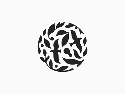 Frosenka  ✽ leafs logomark patrykbelc blcstudio belcdesign flatdesign nature branding spa logodesign logo