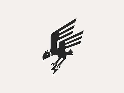 Eagle ϟ patrykbelc blcstudio belcdesign branding simple design flatdesign logodesign logo logomark eagle