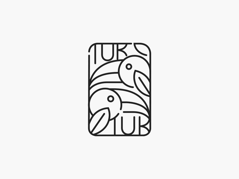 Tuk Tuk ❧ outline icon patrykbelc blcstudio belcdesign restaurant branding logomark logodesign logo