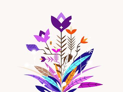 Magic Garden ❦✽ patrykbelc blcstudio belcdesign print digital art vectors illustrator illustration flowers