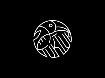 Tuk Tuk ❧ logomark toucan patrykbelc blc belcdesign restaurant branding outline icon logodesign logo