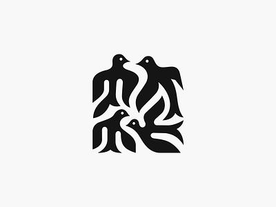 Barwinki ✻◍ patrykbelc blc belcdesign branding flatdesign animallogo logodesign logomark birds