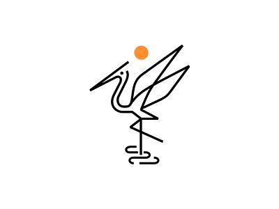 Heron ◍ patrykbelc blc belcdesign branding logodesign logomark animal logo heron